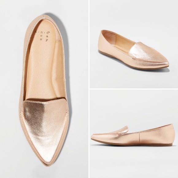 76d8cb5ca6e A New Day Micah Rose Gold Pointed Toe Loafer NWT